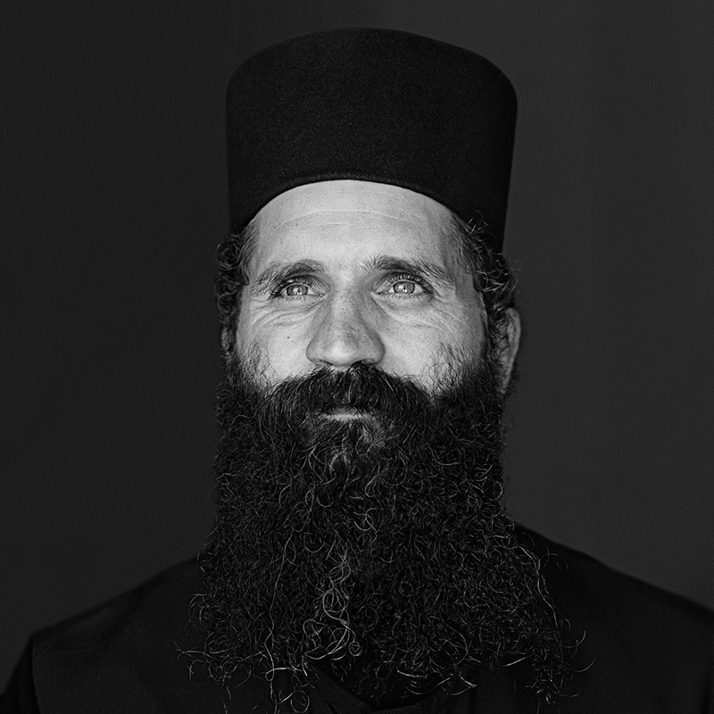 © Christine Turnauer - Father Christophorus, Greek Orthodox, Greece, 2012 Coal pigment print, edition of 12, 36 x 36 cm